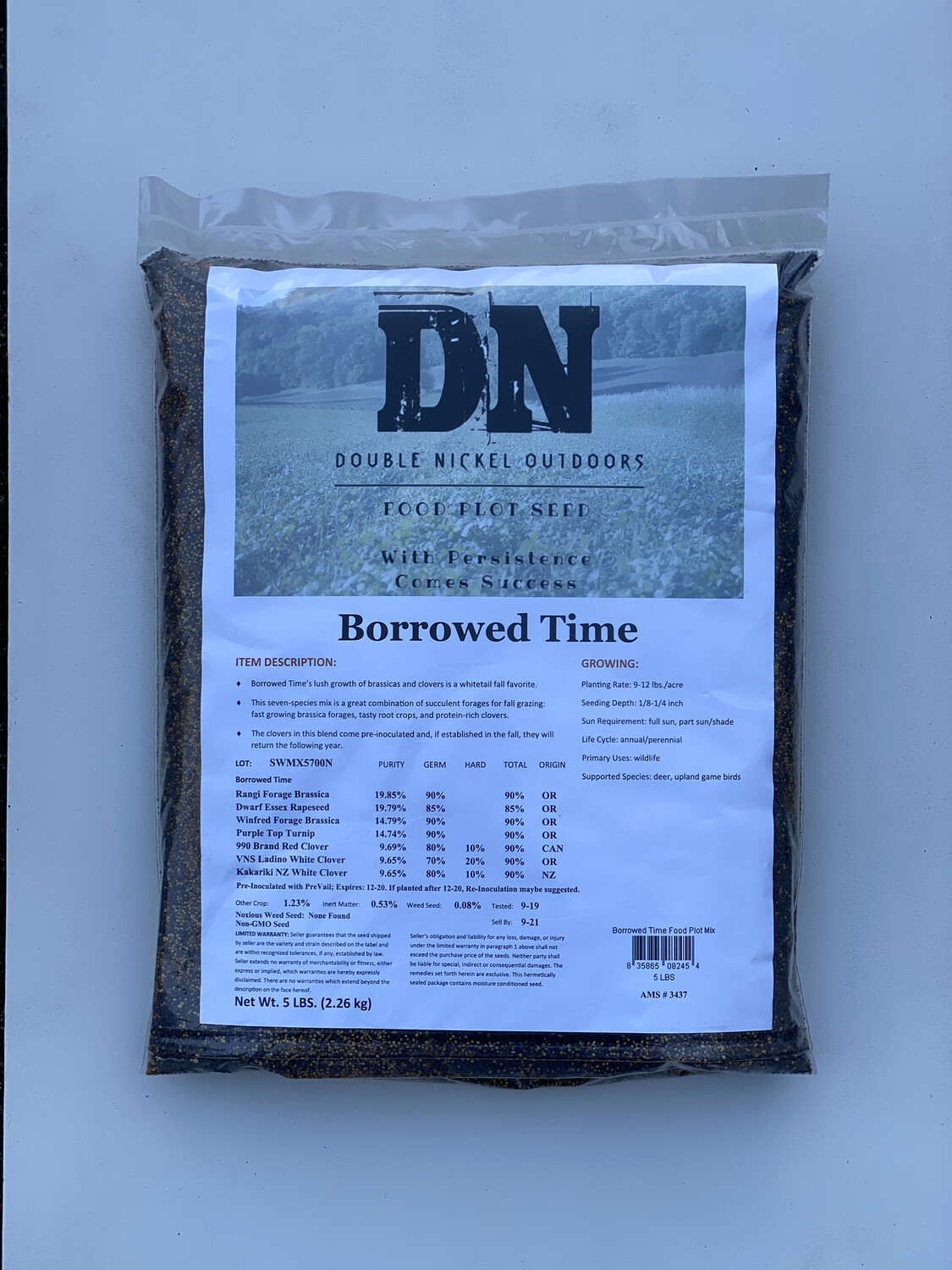 Borrowed Time Seed 5lb Bag