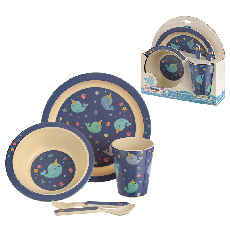Bambootique Eco Design Kids Dinner Set
