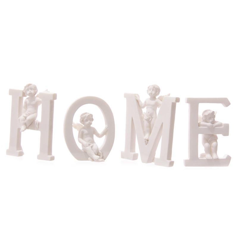 Cute Cherub HOME Letters Ornament