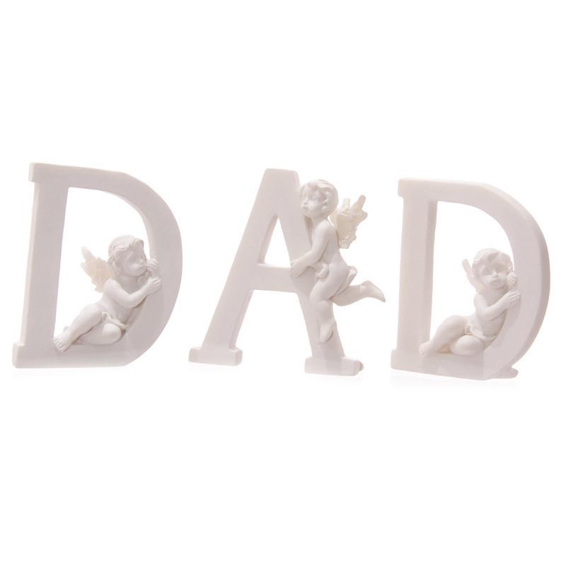 Cute Cherub DAD Letters Ornament