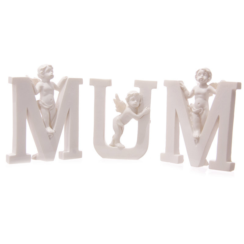 Cute Cherub MUM Letters Ornament