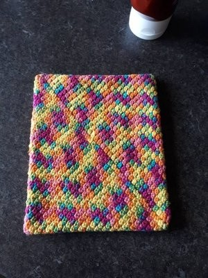 Cotton & Aloe - Cotton hot pad, cotton potholder, kitchen hot pad, kitchen potholder, handmade hotpad, handmade panmat, crochet potholder, crochet hotpad