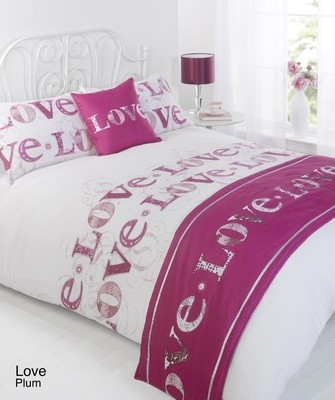 LOVE BED IN A BAG DUVET COVER SET - PLUM