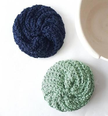 Cotton & Aloe: Cotton pinwheel scrubbers for dishwashing, and cleaning