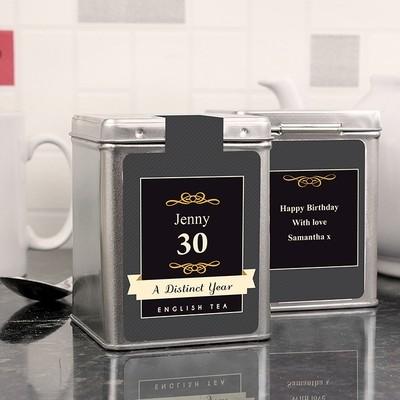 Personalised A Distinct Year Tea & Tin