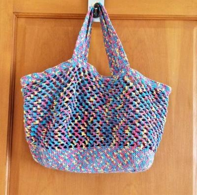 Cotton & Aloe - Crochet pattern for reuseable washable eco friendly market/grocery/shopping bag