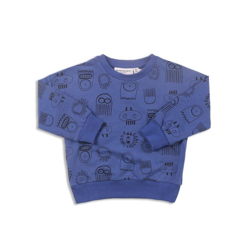 Kids Cartoon Print Little Big Kids Jumper Sweatshirt