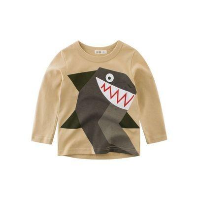 Boys Kids Cartoon Shark Cotton Longsleeves