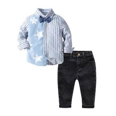 Star Stripe Boy's Shirt Set