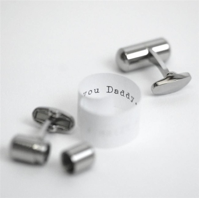 Deluxe Secret Message Cufflinks