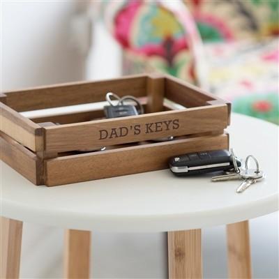 Personalised Wooden Keys Crate