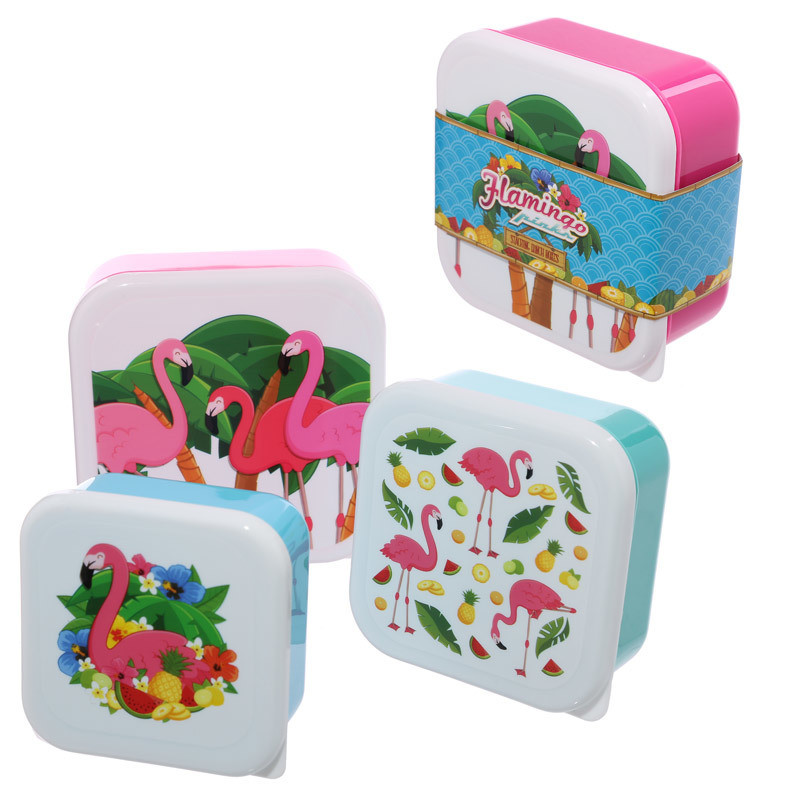 Fun Design Set of 3 Lunch Boxes (22 Designs)