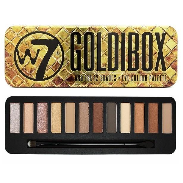 W7 Goldibox 12 Colours Eyeshadow Palette