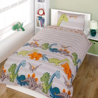 CHILDRENS FUN FILLED BEDDING - DINOSAUR
