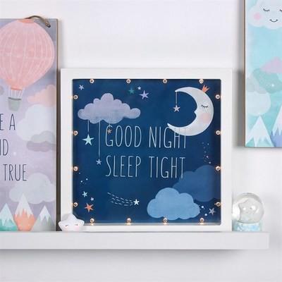 GOOD NIGHT SLEEP TIGHT LED BOX FRAME