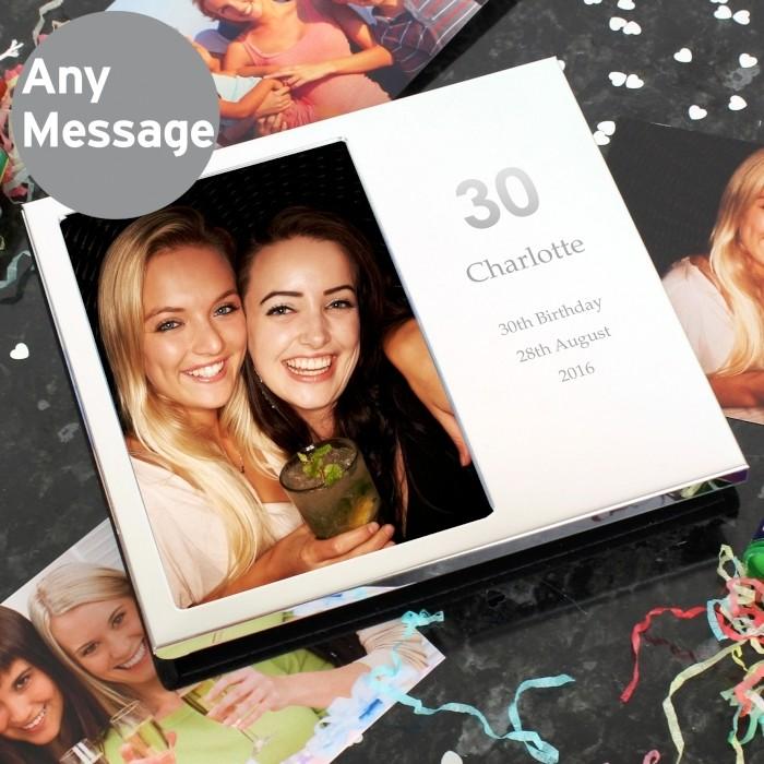 Personalised Decorative Big Number Photo Frame Album 4x6