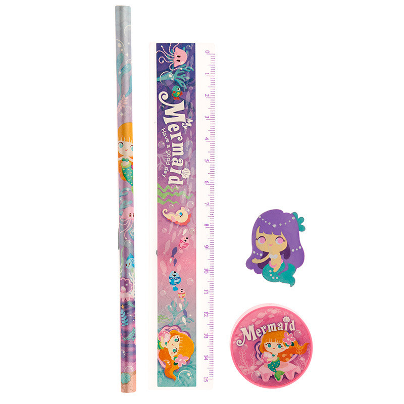 Fun Mermaid Stationery and Pencil Case Set