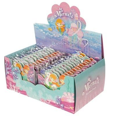 Cute Mini Memo Pad Pack of 4 - Mermaid Design