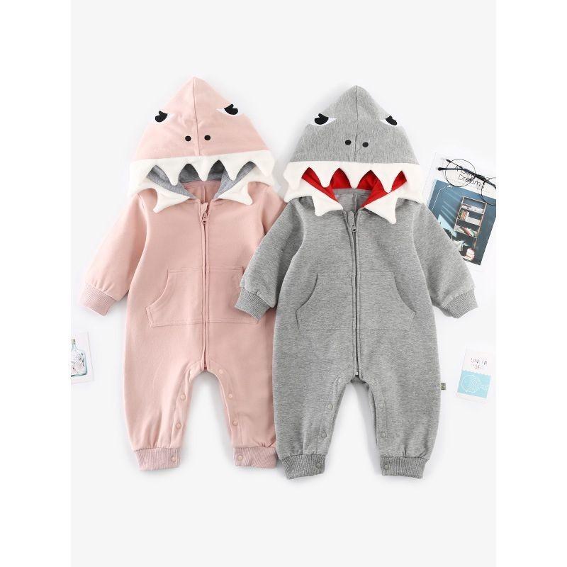 Baby Shark Hooded Romper