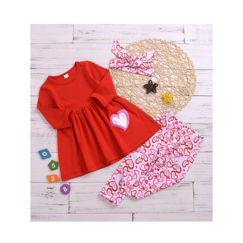Little Girl Lover Heart 3 Piece Set