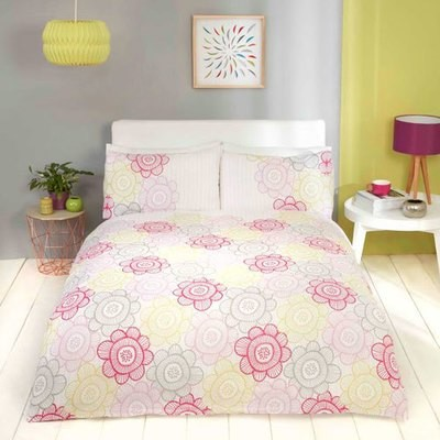 SCANDI SUNFLOWER BERRY DUVET SET