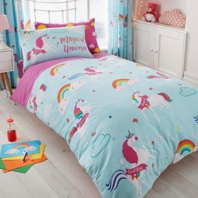 UNICORN FAIRY TALE ROTARY DUVET SET