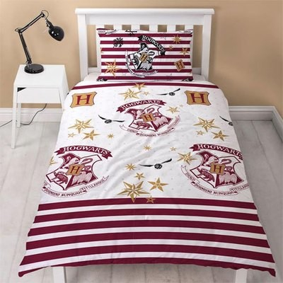 OFFICIAL HARRY POTTER SINGLE REVERSIBLE DUVET SET