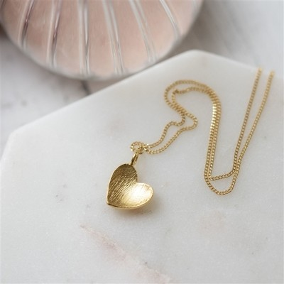 Mummy's Heart of Gold Pendant Necklace