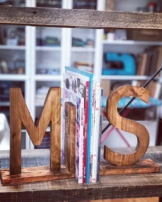 Daddy's Workshop - Handmade Wooden Letter Bookends