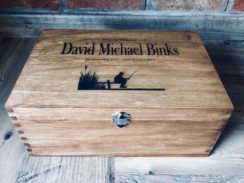 Daddy's Workshop - Personalised Wooden Engraved Memory Box