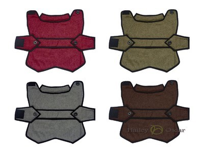 Blazer Wool Dog Coat - Brown