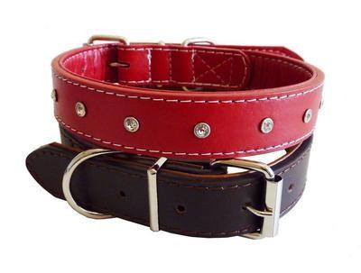 Diamante Leather Collar