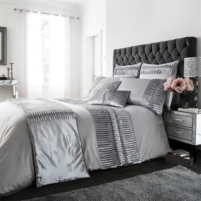 PORTO GREY LUXURY DUVET SET
