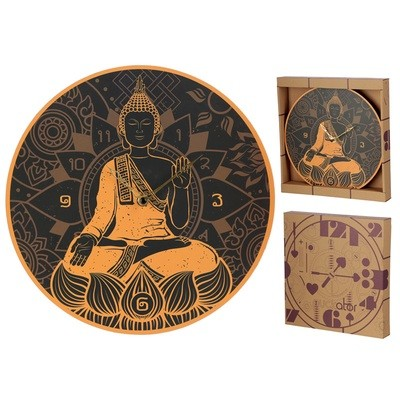 Novelty Thai Buddha Shaped Wall Clock
