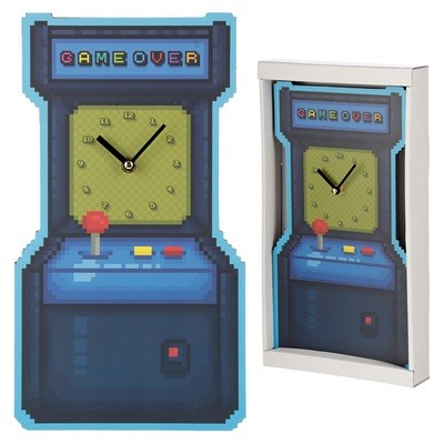 Fun Retro Arcade Game Shaped Wall Clock