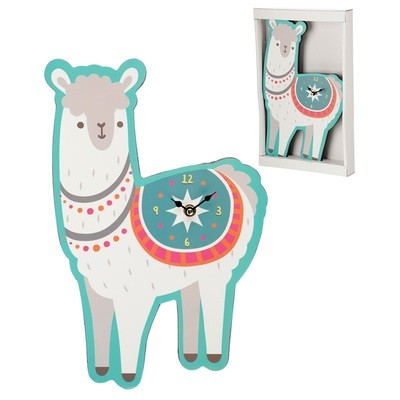 Fun Llama Shaped Wall Clock