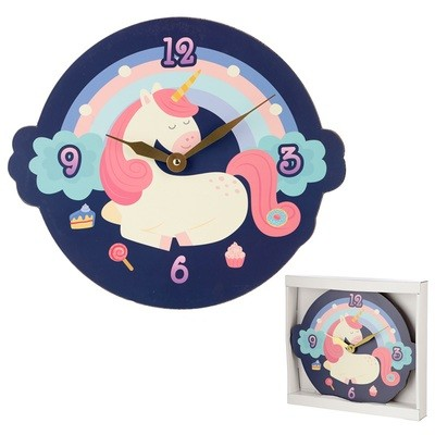 Cute Sweet Dream Unicorn Shaped Wall Clock