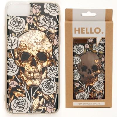 iPhone 6/7/8 Phone Case - Skulls & Roses Design