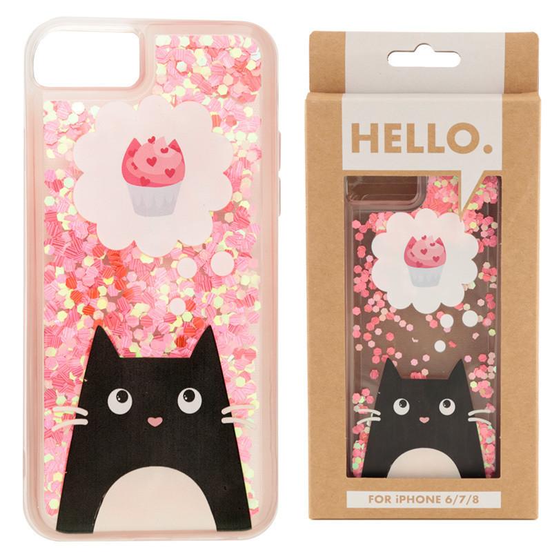 iPhone 6/7/8 Phone Case - Feline Fine Cat Cupcake Design