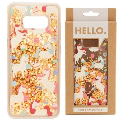 Samsung 8 Phone Case - Unicorn Sweet Dreams Design