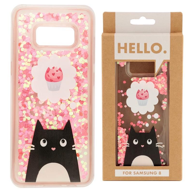 Samsung 8 Phone Case - Feline Fine Cat Cupcake Design