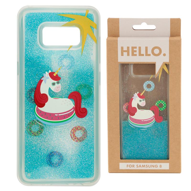 Samsung 8 Phone Case - Tropical Vacation Vibes Unicorn