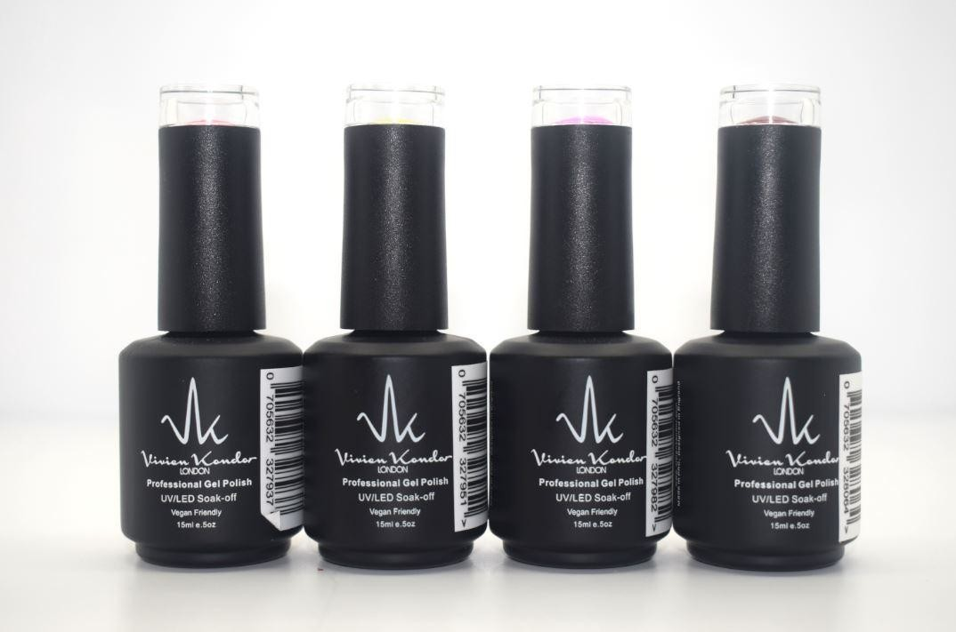 Vivien Kondor - Professional Gel Polish 4 Colours Bundle