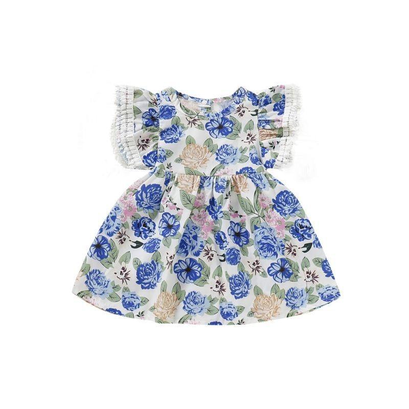 Blue Flower Casual Dress