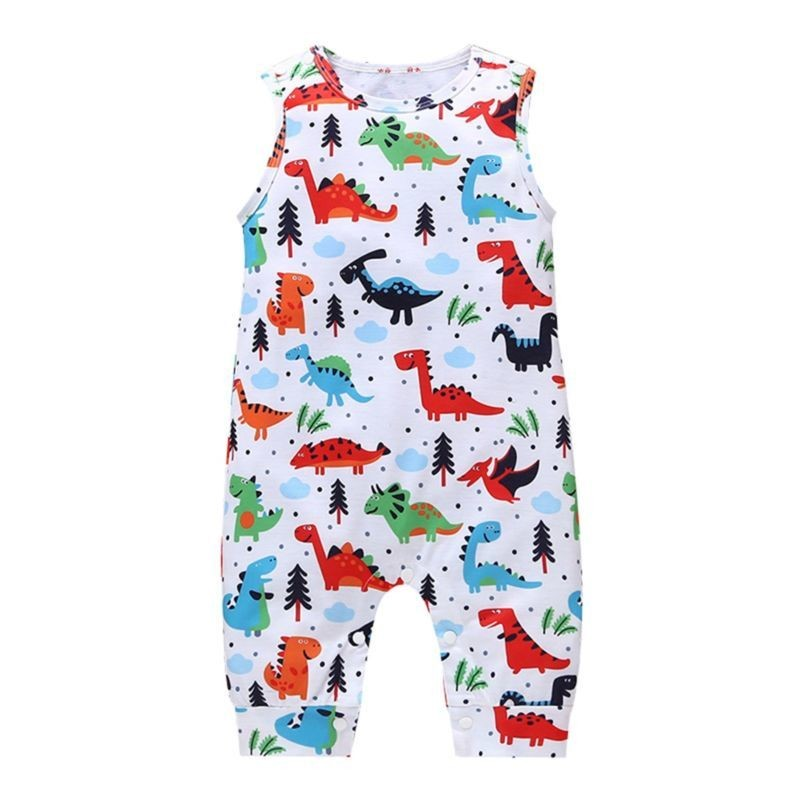 Cartoon Dinosaur Baby Boy Jumpsuit