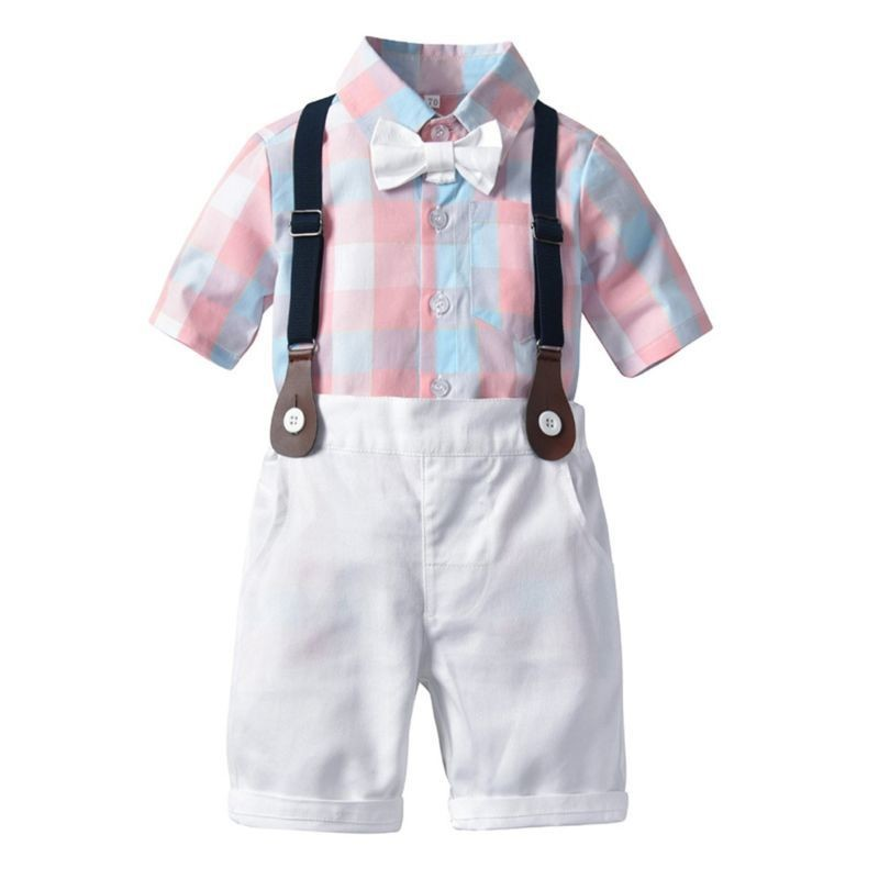 Little Boy Outfit Checked Shirt Set