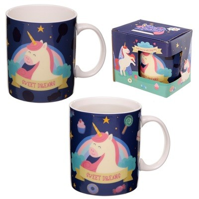 Heat Colour Changing New Bone China Mug - Sweet Dreams Unicorn