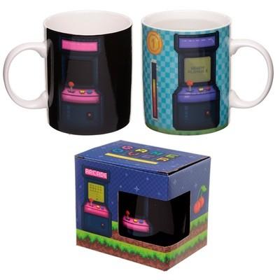 Heat Colour Changing New Bone China Mug - Retro Gaming Design