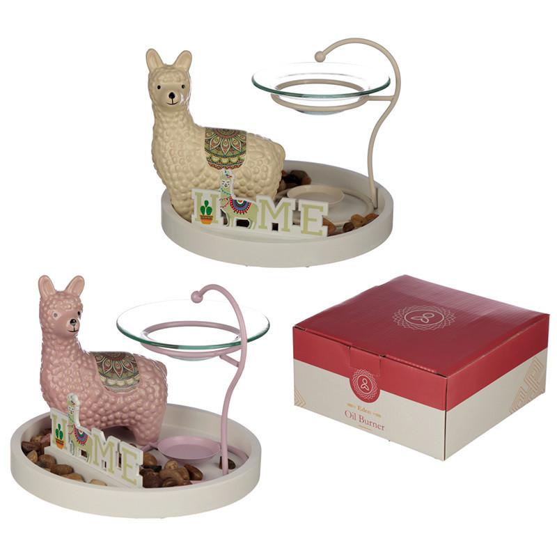 Eden Aroma Set - Llama Oil Burner & Ceramic Figurine