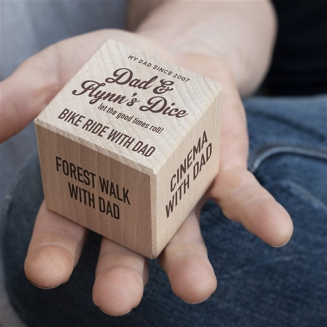 Wooden Dad Dice